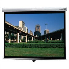 "Silver Matte Deluxe Model B Manual Screen - 43"" x 57"" Video Format"