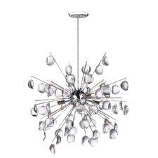 Crystal Wafers 8 Light Pendant