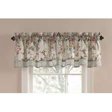 Cypress Gate Cotton Rod Pocket Scalloped Curtain Valance