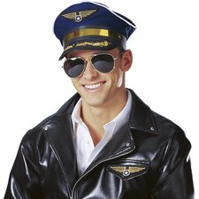 Deluxe Pilot Captain Hat in Blue
