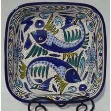 "Aqua Fish Design 12"" Serving Bowl"