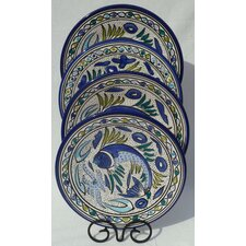 Aqua Fish Design Dinner Plates (Set of 4)
