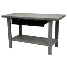 59 Indust Gray Workbench W/ 2 Drwrs