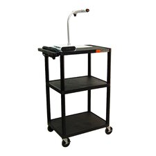 "42"" High AV Cart in Black"