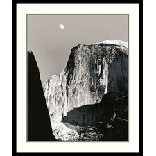 "Moon Over Half Dome by Ansel Adams, Framed Print Art - 31.41"" x 26.91"""