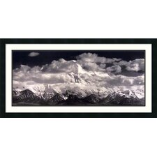 "Mount McKinley Range, Denali National Park, Alaska by Ansel Adams, Framed Print Art- 19.57"" x 38.94"""