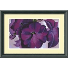 "Petunias, 1925 by Georgia O'Keeffe, Framed Print Art - 11.46"" x 16.33"""