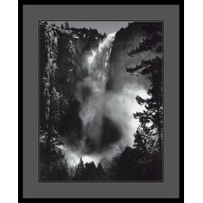 "Bridal Veil Falls by Ansel Adams, Framed Print Art - 33.04"" x 27.04"""