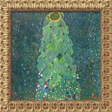 "The Sunflower (c. 1906-1907) by Gustav Klimt, Framed Canvas Art - 19.5"" x 19.5"""