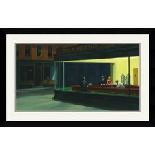Nighthawks, 1942 Framed Art Print by Edward Hopper