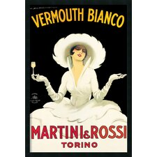 Martini and Rossi Framed Print with Gel Coated by Marcello Dudovich