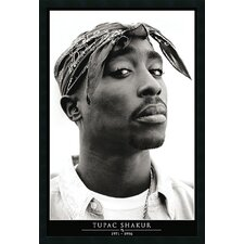 Tupac Amerikaz Most Wanted Framed Print
