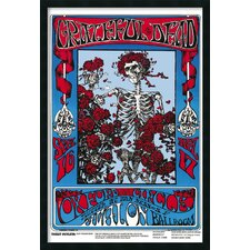 Family Dog Grateful Dead Skeleton and Roses Framed Print