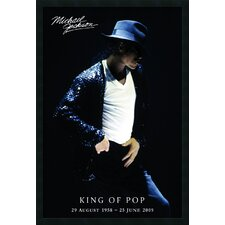 Michael Jackson King of Pop Framed Print