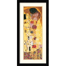 The Kiss (Der Kuss) Detail Framed Print by Gustav Klimt