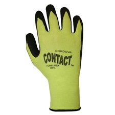 Hi Vis Lime Green Latex Glove - Large