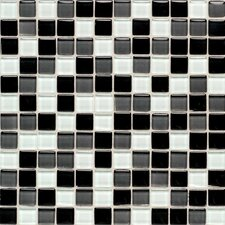 "Legacy Glass 12"" x 12"" Glazed Wall Mosaic in Black Blend"