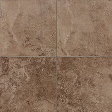"Pozzalo 6"" x 6"" Glazed Field Tile in Weathered Noce"