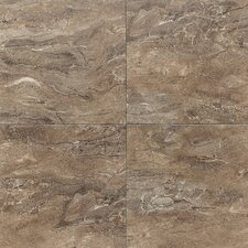 "Torre Venato 20"" x 20"" Glazed Porcelain Field Tile in Noce"