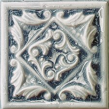 "Cape Cod 6"" x 6"" Seashore Accent Tile in Ocean Blue Crackle"