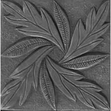 "Renaissance 4"" x 4"" Messina Accent Tile in Antique Nickel"