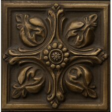 "Renaissance 2"" x 2"" Toscana Insert Tile in Antique Bronze"