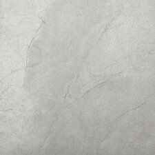 "St Moritz 18"" x 18"" Glazed Floor Porcelain Tile in Silver"