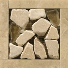 "Natural Stone 3"" x 3"" Campania Travertine Listello Corner"