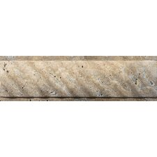 "Natural Stone 12"" x 4"" Fontane Ritz Molding in Walnut"