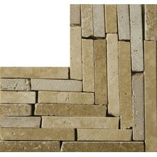 "Natural Stone 4"" x 4"" Melina Travertine Listello Corner"