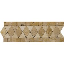 "Natural Stone 12"" x 4"" Schema Pisa Travertine Listello"