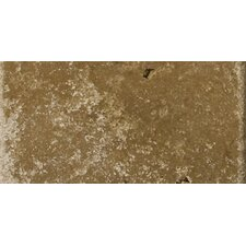 "Natural Stone 3"" x 6"" Cottage Tumbled Travertine in Noce"