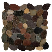 "Rivera 12"" x 12"" Flat Pebble Mosaic in Natural"