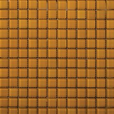 "Lucente 12"" x 12"" Glossy Mosaic in Empire Gold"