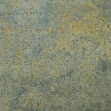 "Natural Stone 16"" x 16"" Slate Tile in Brazilian Multicolor"