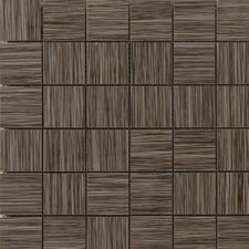 "Strands 12"" x 12"" Mosaic Tile in Chestnut"