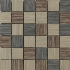 "Strands 12"" x 12"" Blend Mosaic Tile in Dark"