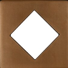"Renaissance 4"" x 4"" Catania Field Metal Tile in Antique Bronze"
