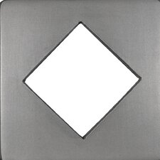 "Renaissance 4"" x 4"" Catania Field Metal Tile in Antique Nickel"