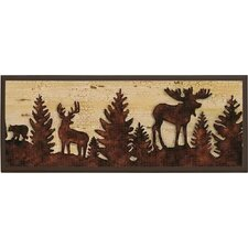 Forest Animal Silhouettes Plaque