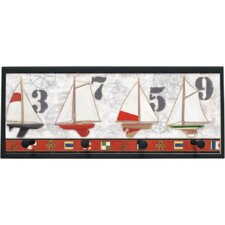 "Captains Harbor Wall Art with Pegs - 10.25"" x 25"""