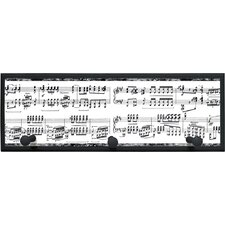 "Musical Notes Wall Art with Pegs - 7"" x 20.5"""