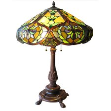 Tiffany Style Victorian Table Lamp with 114 Cabochons
