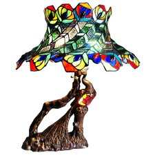 Tiffany Style Peacock Feather Table Lamp