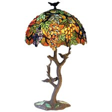 Tiffany Style Leafs and Grapes Table Lamp