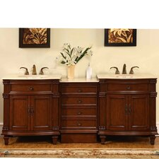"Sophia 80"" Double Sink Bathroom Vanity Set"