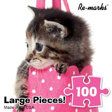 100 Pieces Kitten in Purse Puzzle