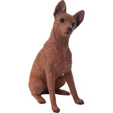 Mid Size Miniature Pinscher Sculpture in Red