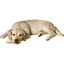 Original Size Sleepy Labrador Retriever Sculpture in Yellow