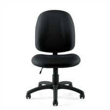 Mid-Back Armless Fabric Task Chair
